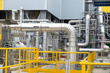 Steam piping with thermal insulation in Boiler of power plant (B