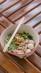 Asian white noodles