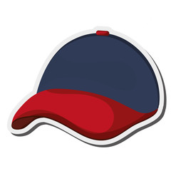 flat design baseball hat icon vector illustration