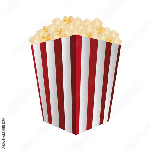 """flat design striped popcorn bag icon vector illustration ..."