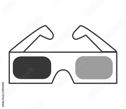 Flat 3d Glasses : Quot flat design d glasses icon vector illustration imagens