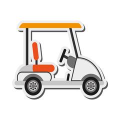 flat design Golf car icon vector illustration