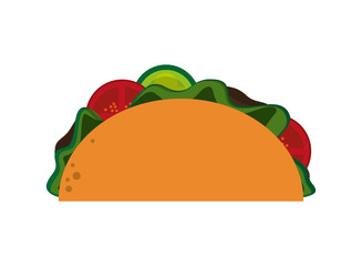 flat design single taco icon vector illustration