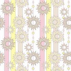 Seamless pastel retro abstract star background. Textile and wall