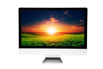 5k monitor isolated on white