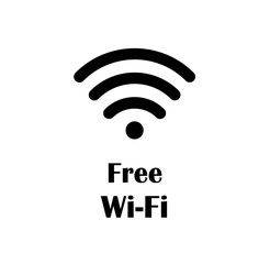 Free Wi-Fi Icon. A hand drawn vector illustration of a free Wi-Fi symbol.