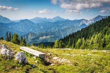 Blick vom Hochobir, Südalpen, Österreich