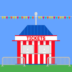 ticket booth at a fair / carnival