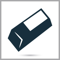 Eraser icon on the background
