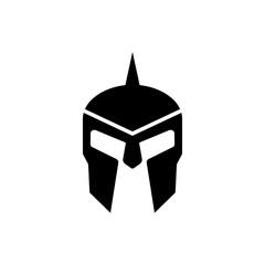 Spartan greek helmet silhouette