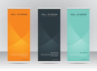 Roll up banner stand template Wall mural