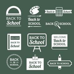 Logotipos e insignias de vuelta al colegio