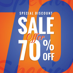 Special Discount Sale 70 percent heading simple modern design fo