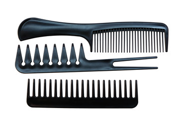 Professional set of combs for hairdressing