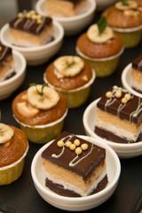 Collection of delicious cake mini dessert