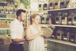 Couple chooses dried herbs