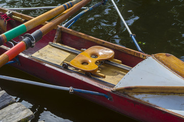 Older single Academy rowing boat.