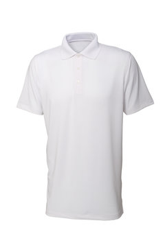 White tee shirt for man or woman isolated