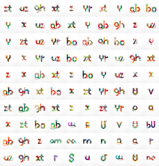 Mega set of 100 vector letter logos
