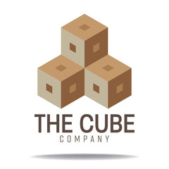 abstract geometry logo cube