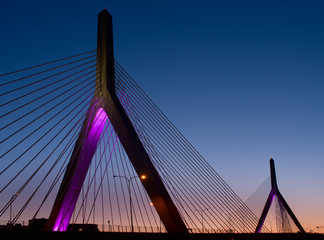 Poster Bridge Zakim Bunker in Boston, Massachusetts, USA