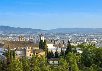 Landscape of the historical city of Granada, Spain
