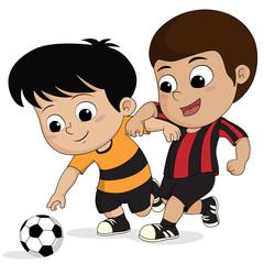 cartoon soccer kid.
