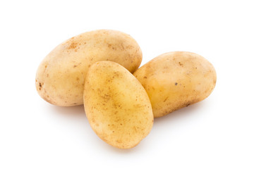 New potato isolated on white background.