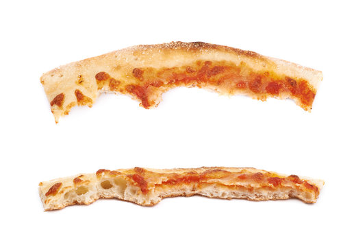 Pizza crust isolated