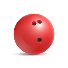 Bowling ball. Sport equipment for game. Leisure and fun. Vector illustration isolated on white background.