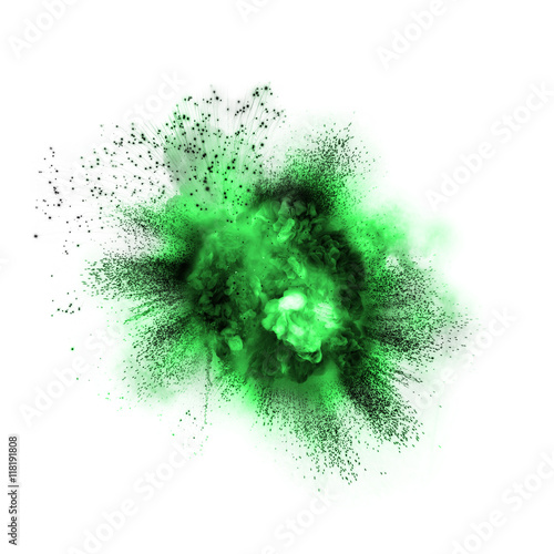 Green toxic exp... Explosion White Background