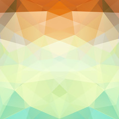 Abstract background consisting of yellow, brown, green triangles. Geometric design