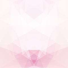 Abstract background consisting of pink, white  triangles. Geometric design