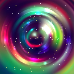 Abstract circle background, Vector design. Glowing spiral.