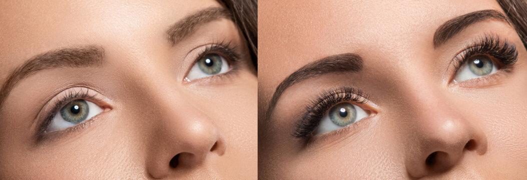 Eyelash extension and eyebrow correction