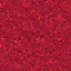 Background of red geometric shapes. Seamless mosaic pattern. Vector