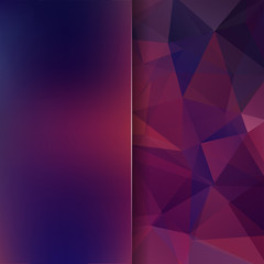 Abstract polygonal vector background. Purple geometric vector