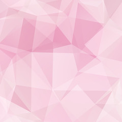 Abstract geometric style pink background. Light business background