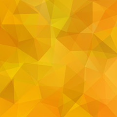 Background made of yellow, orange triangles. Square compositi