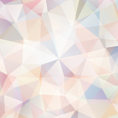 abstract background consisting of pastel beige triangles, vector