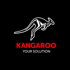 kangaroo vector black