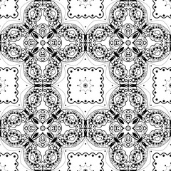 Lace seamless pattern, monochrom colors elegant print