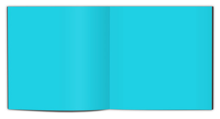 3d illustration open book with blank pages, isolated on a white background.