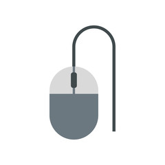 Mouse of computer icon in flat style isolated on white background. Equipment symbol