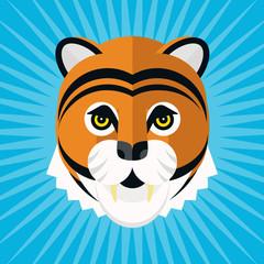 Tiger head flet design