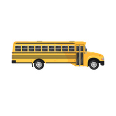 School Bus Icon on white background.