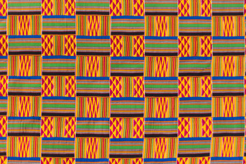 Kente cloth texture.