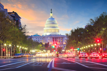 Fototapete - Capitol building in Washington DC