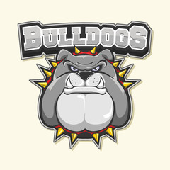 bulldog logo illustration design