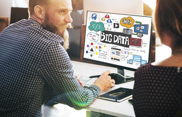 Big Data Online Internet Technology Concept